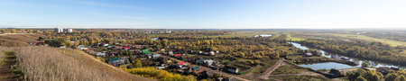 elabuga: the old Russian city of Elabuga and surroundings, autumn panorama