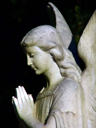 praying angel: Angel statue