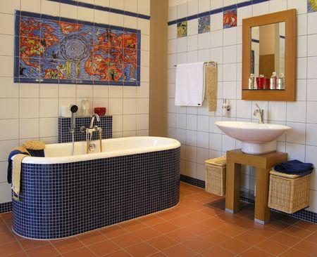 Arty bathroom