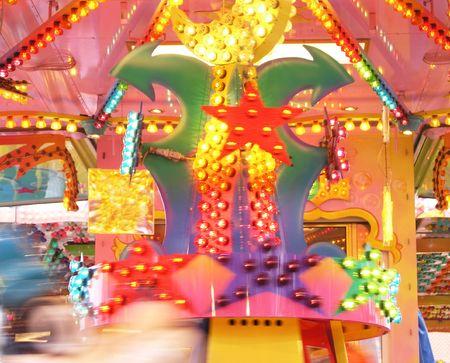 rapidity: Colourful carousel Stock Photo