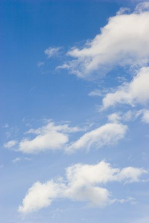 Blue sky with white clouds on a sunny day Stock Photo - 923128