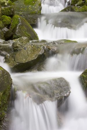 Detail of the cascades of a mountain creek Stock Photo - 948422