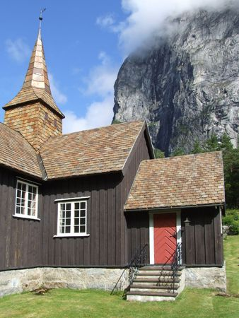 stave: Stave church in the Romsdal - Norway
