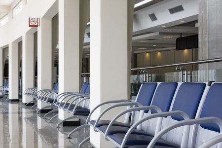 Lounge of a modern airport photo