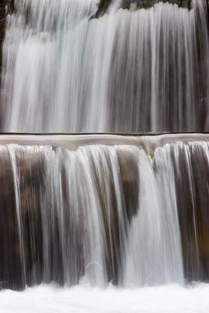 ordesa: Detail of a waterfall - Gradas de Soaso - National park Ordesa y Monte perdido. With long exposure time. Stock Photo
