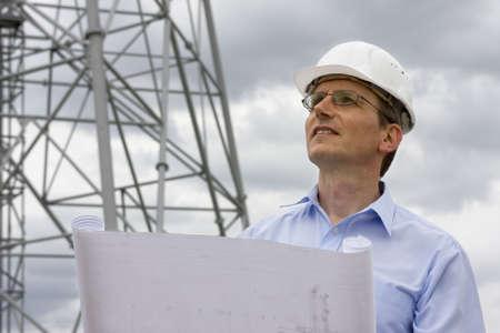 ingeniero: Ingeniero en el plan frente a la gr�a