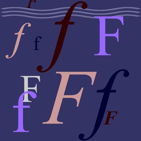 Letter F photo