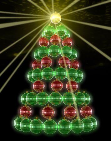 mirrorball: christmas mirrorball tree
