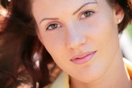 splendid: closeup portrait of the pretty girl  Stock Photo