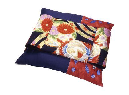 적합: beautiful japanese pillow for sitting on white, luxurious gift 스톡 콘텐츠