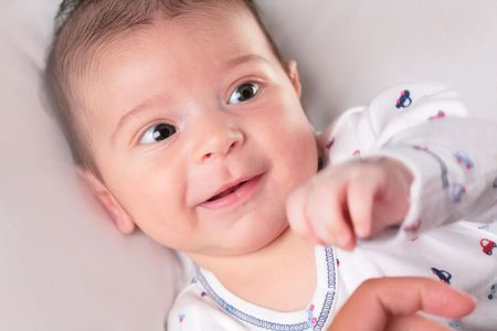 babyboy: portrait of the smiling lucky baby-boy