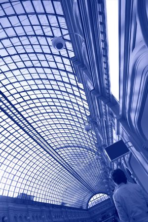 celling: glass celling, interior in GUM in Moscow,Russia