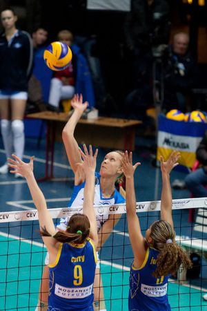 CEV Indesit Champions League 2009-2010, Russian Federation, Moscow, January 6th, 2010, Dinamo Moscow (rus) Modranska Prostejov (cze) Editorial