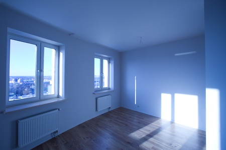 interior of the empty room in a new house Stock Photo