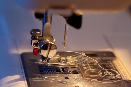 sewing machine, closeup detail Stock Photo - 13545372