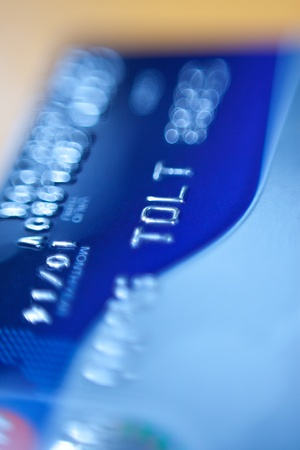 credit card. close-up photo