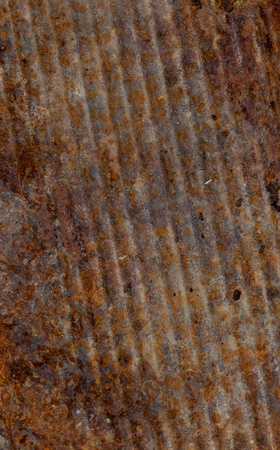 diagonal stripes: rusty metal surface with diagonal stripes