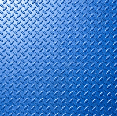 Background of metal  plate in blue color photo