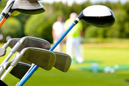 golf club: golf club against the background of green field