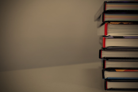 bales: stack of books on the table. with copy-space,  image style