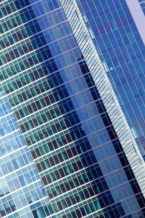 sky scraper: Wall of office building close-up, floors of the skyscraper