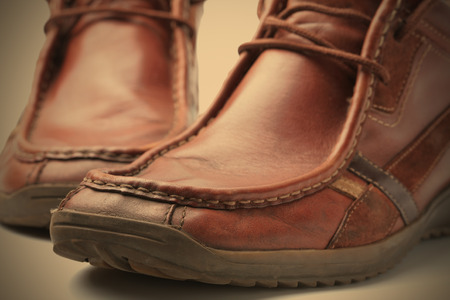 loafer: old stylish loafer Stock Photo