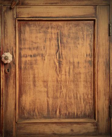 closet door: vintage, door of the old-time closet after restoration