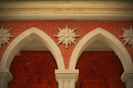 building external: elements of the external decorating of the old-time building