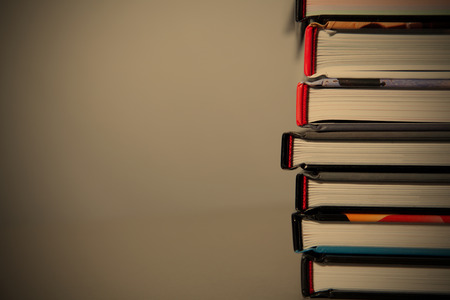 bale: books lie on each other. with copy-space Stock Photo