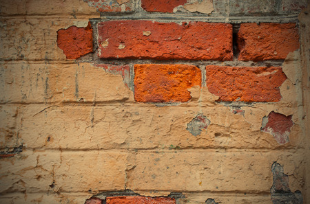 mustiness: fragment of ancient masonry walls, image style