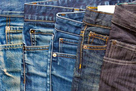 fashion aged jeans, close up