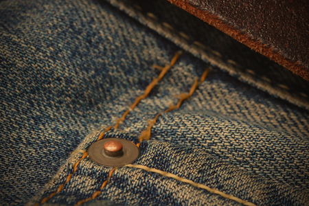 metallic button: Fragment Jeans Trousers, Line, Orange threads, Metallic Button, image style
