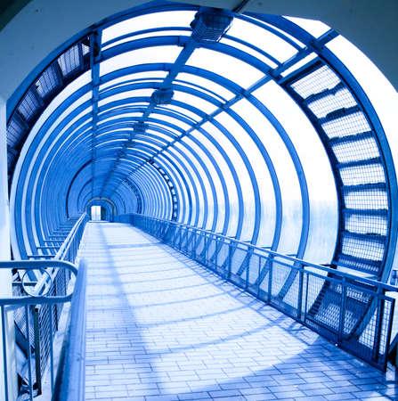 orizzontale fantastica vista urbano della Galleria blu Archivio Fotografico
