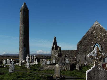 cemetry: Pre 10th century monastic settlement county Galway, Ireland