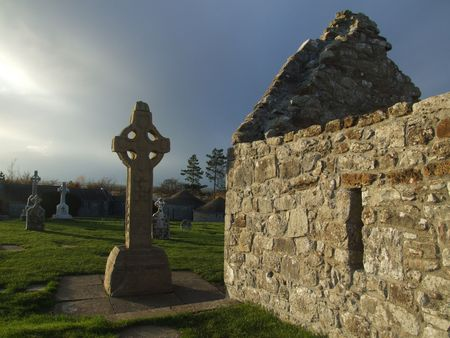 Clonmacnoise Celtic cross county Offaly photo