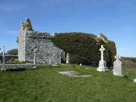 church ruins: Church ruins near village of Corofin county Clare Ireland dating to 10 century