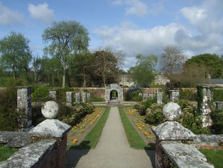walled: Walled gardens in Dromoland castle county Clare, Ireland