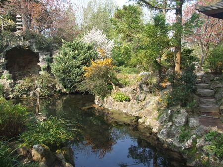 japenese: Japenese vista panor�mica en los jardines del condado de Kildare, Irlanda