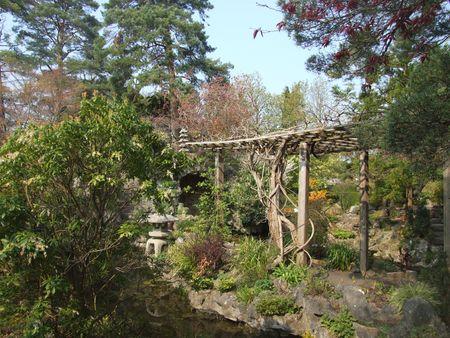 japenese: Vista panor�mica en Japenese jardines del condado de Kildare, Irlanda