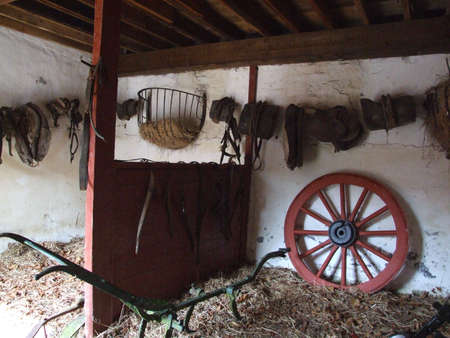 farm implements: old farm implements in farm in the west of Ireland