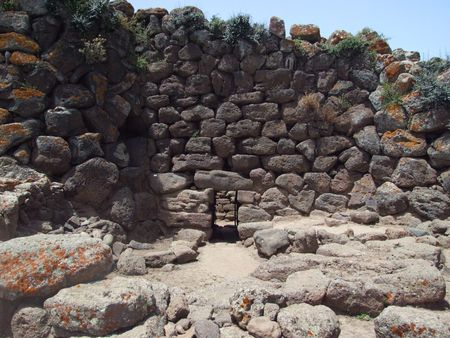 stoneage: Historic building dating to the stone age in Sardinia