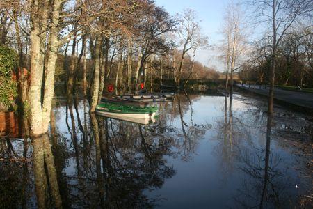 Scenic Irish river in County Kerry, Ireland in autumn Stock Photo - 2300069
