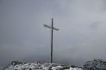 Mountain summit in Ireland in winter photo