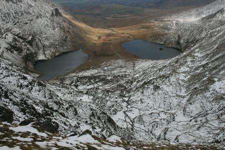 Winter mountain scene in Ireland photo