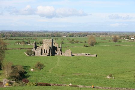 county tipperary: Ruins of old Irish monastic settlement in county Tipperary