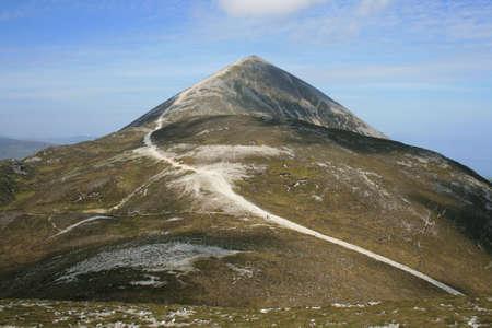 Croagh Patrick mountain located in county Mayo Ireland sacred to Saint Patrick Stock Photo - 3122887