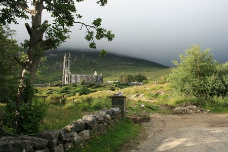 church ruins: Scenic church ruins in county Donegal Ireland Stock Photo