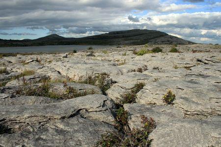 Desert landscape in the Burren county Clare, Ireland Stock Photo - 3612088