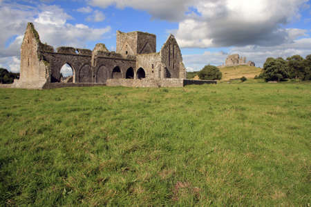 county tipperary: Church and cathedral ruins at the Rock of Cashel county Tipperary Ireland Stock Photo