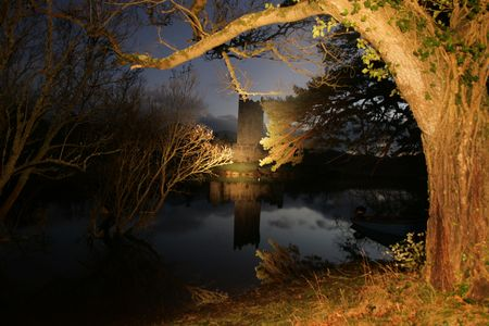 kerry: Ross castle constructed in the 15th century located in county Kerry, Ireland Stock Photo